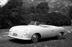 Photo of the actual first ever production Porsche
